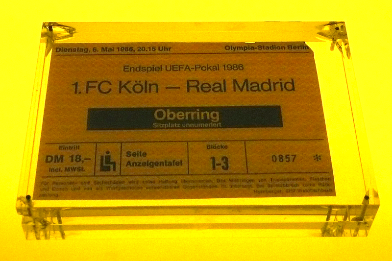 Endspiel UEFA-Pokal 1986 Eintrittskarte 1.FC Köln - Real Madrid