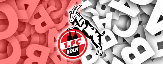 1.FC Köln Logo ABC Hintergrund
