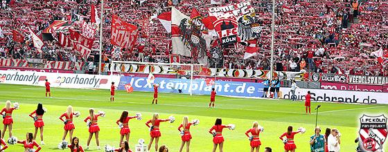 Choreografie Südkurve beim Heimspiel 1.FC Köln gegen FC Erzgebirge Aue