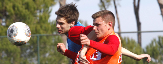 Trainingslager 1.FC Köln 2014 in Belek - Maxi Thiel und Andre Wallenborn