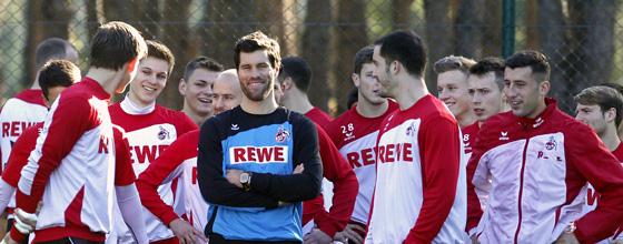 Trainingslager 1.FC Köln 2014 in Belek - Mannschaft beim Training