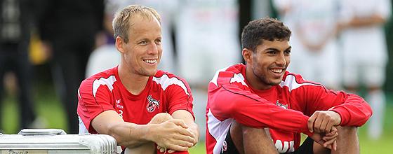 Kevin McKenna und Adil Chihi vom 1. FC Köln