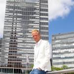 Kevin Vogt vom 1.FC Köln, im Hintergrund Fernsehturm und Köln Tower
