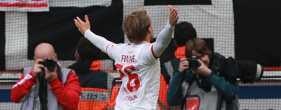 Bard Finne jubelt nach Tor gegen Leverkusen