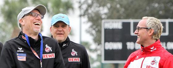 Peter Stöger, Jörg Schmadtke und Alexander Wehrle