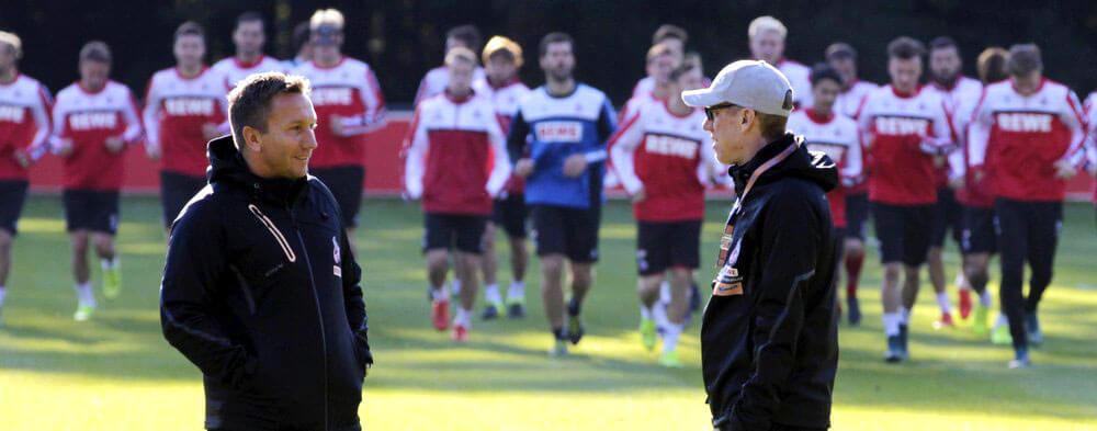 Peter Stöger beim Training des 1. FC Köln