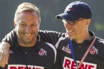 Peter Stöger und Manfred Schmidt - Trainer des 1. FC Köln