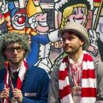 Marcel Risse und Jonas Hector - Karneval beim 1. FC Köln