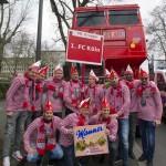 Der 1. FC Köln beim Rosenmontagszug