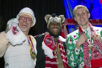 Stöger, Modeste, Sörensen - Karneval beim 1. FC Köln